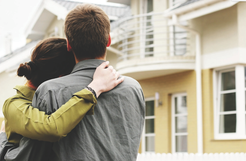Couple and new home