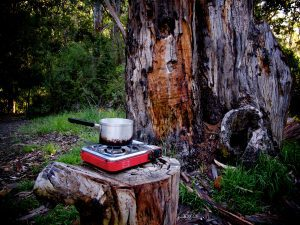 Camp cooking in National Park