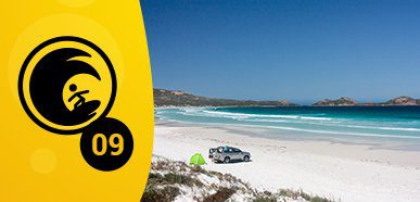 Ideal Beachside Camping – Lucky Bay, Cape Le Grand National Park, WA