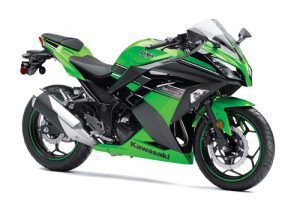 Green Kawasaki ninja bike