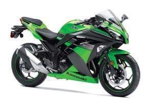 Green Kawasaki ninja bike