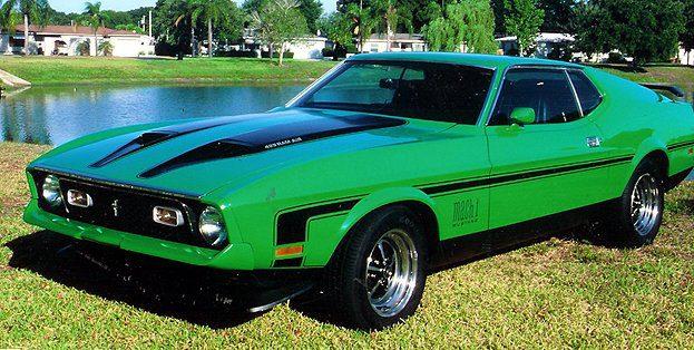 Green Mach 1 Mustang