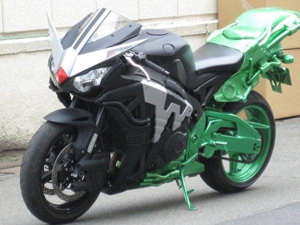 Half green motorbike