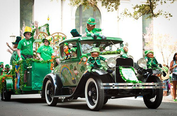 St Patricks Day Decorated Old Hot Rod