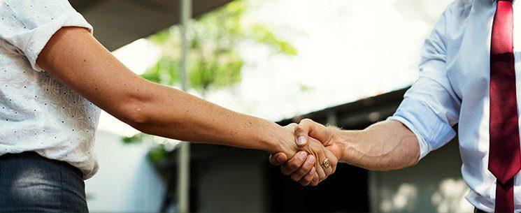 real estate handshake